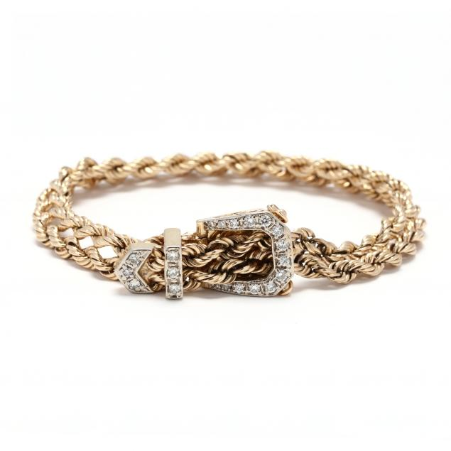 14kt-gold-and-diamond-buckle-bracelet