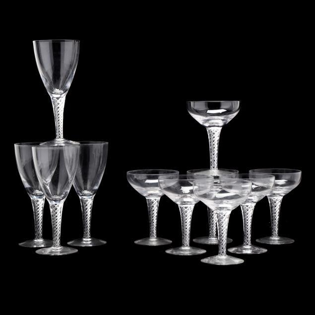 stuart-eleven-pieces-of-i-ariel-i-glass-stemware