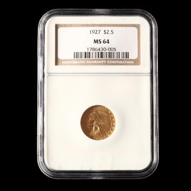 1927-2-50-indian-head-gold-quarter-eagle-ngc-ms64