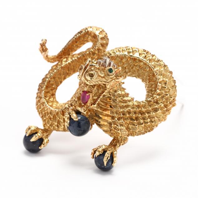 18kt-gold-and-gem-set-dragon-brooch