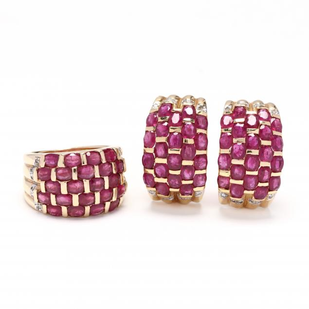14kt-gold-ruby-and-diamond-suite