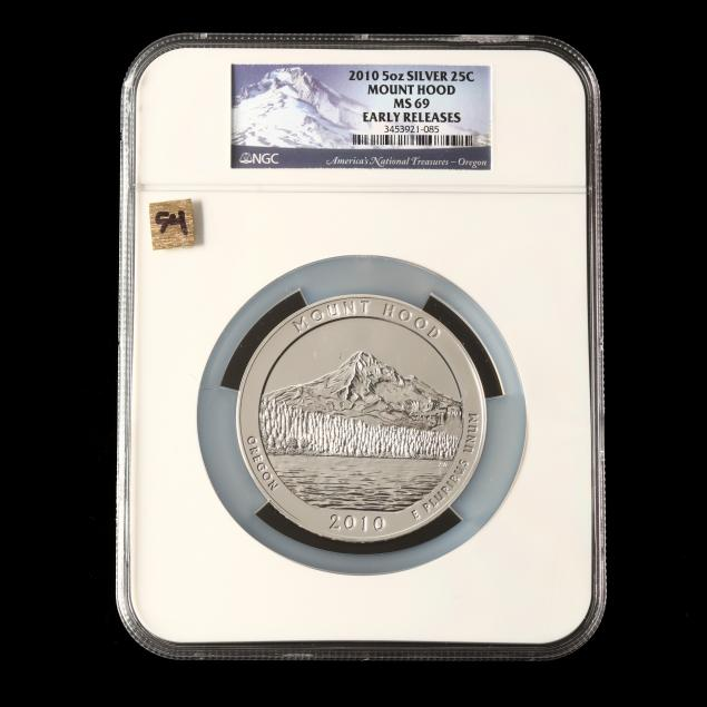 2010-mount-hood-five-ounce-silver-quarter-ngc-ms69-early-releases