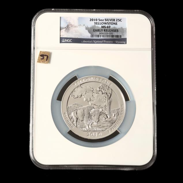 2010-yellowstone-five-ounce-silver-quarter-ngc-ms69-early-releases