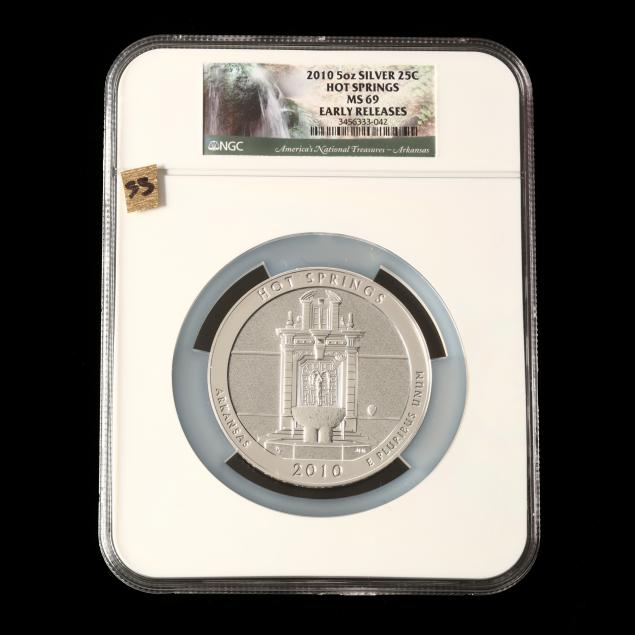 2010-hot-springs-five-ounce-silver-quarter-ngc-ms69-early-releases
