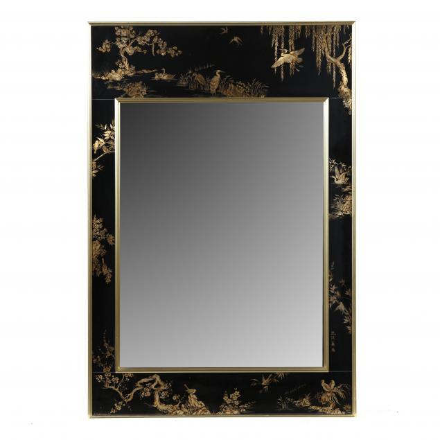 labarge-chinoiserie-paneled-mirror