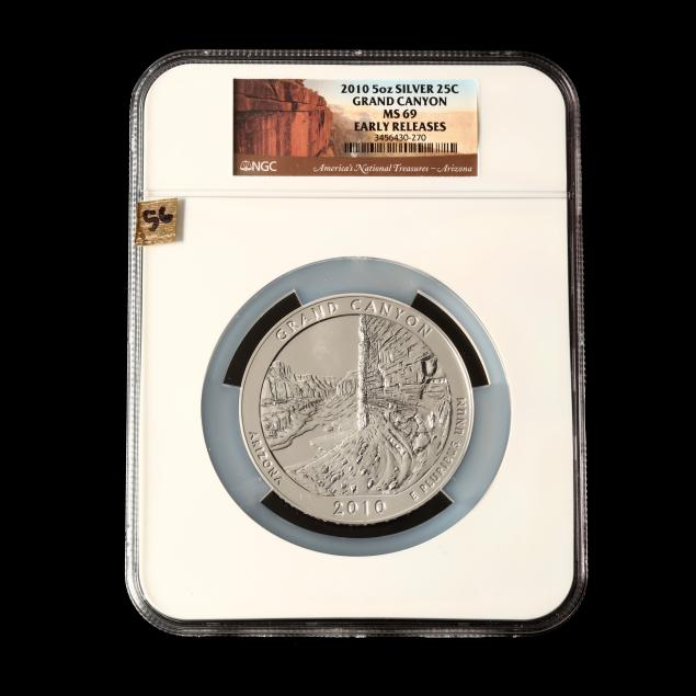 2010-grand-canyon-five-ounce-silver-quarter-ngc-ms69-early-releases