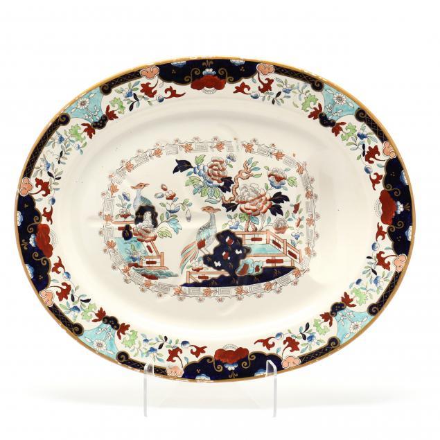 antique-english-imari-meat-platter