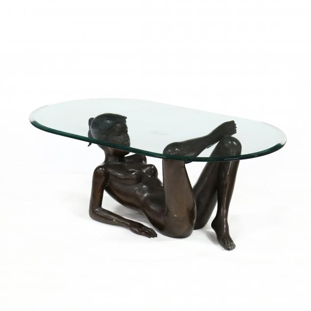 contemporary-bronze-and-glass-figural-low-table