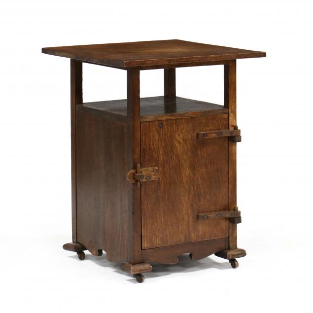 arts-and-crafts-oak-side-cabinet