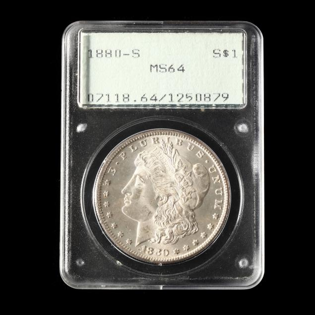 1880-s-morgan-silver-dollar-pcgs-ms64-in-early-rattler-holder