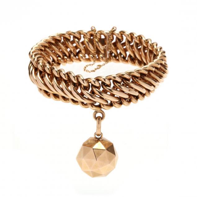 vintage-18kt-gold-bracelet-french
