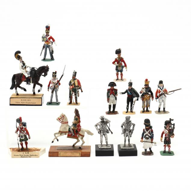 fifteen-toy-soldier-models-including-stadden-and-hinton-hunt
