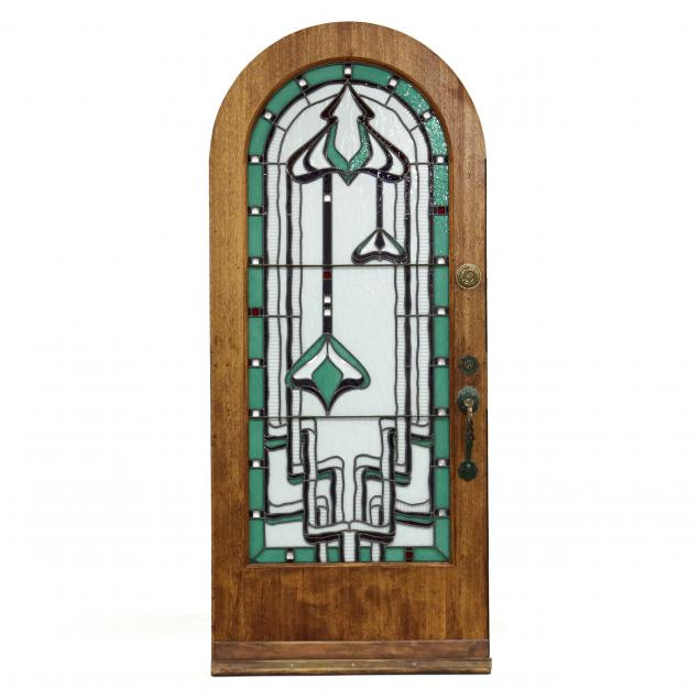 an-art-nouveau-stained-glass-arched-door