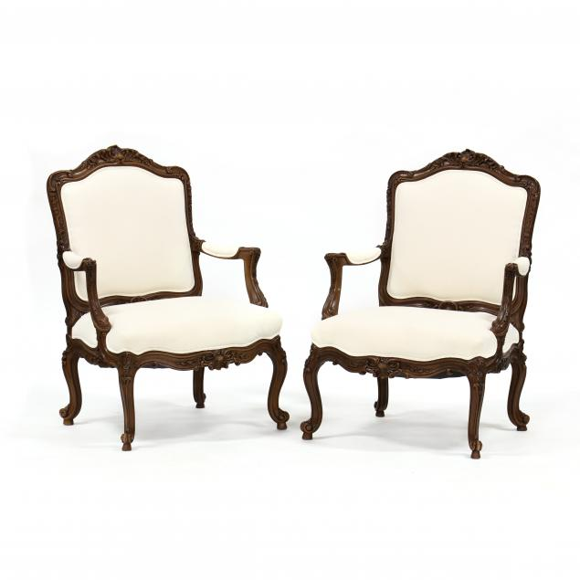 pair-of-louis-xv-style-carved-mahogany-fauteuil
