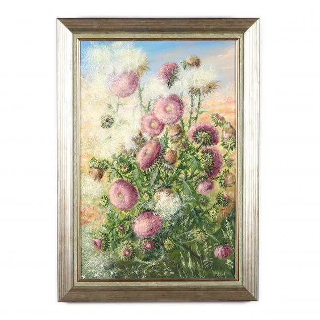 marina-konovalova-bare-russia-nc-thistle-flowers