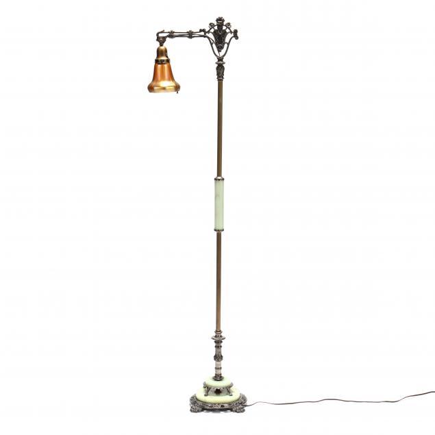 vintage-floor-lamp-with-steuben-shade
