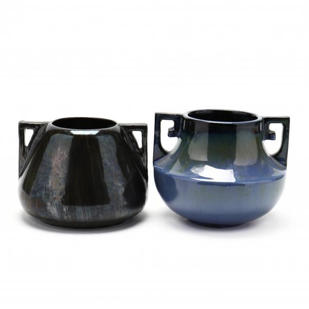 two-art-deco-fulper-pottery-vases