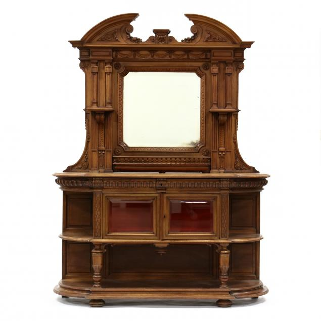 continental-carved-walnut-and-mirrored-buffet