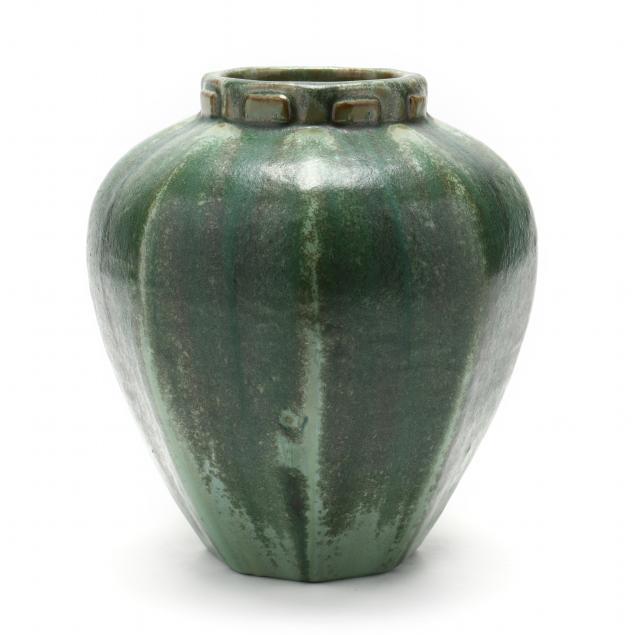 fulper-art-pottery-octagonal-vase