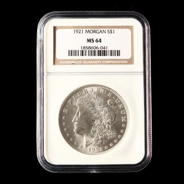 1921-morgan-sliver-dollar-ngc-ms64