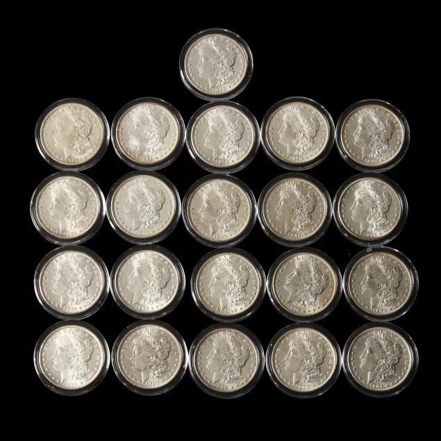 twenty-21-uncirculated-morgan-silver-dollars-includes-1883-cc