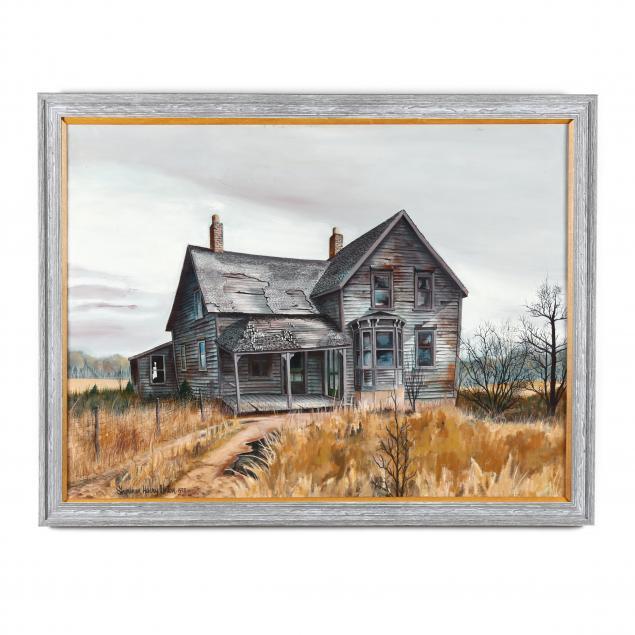 sherman-henry-hank-linton-il-mi-1927-1989-country-house-ruins