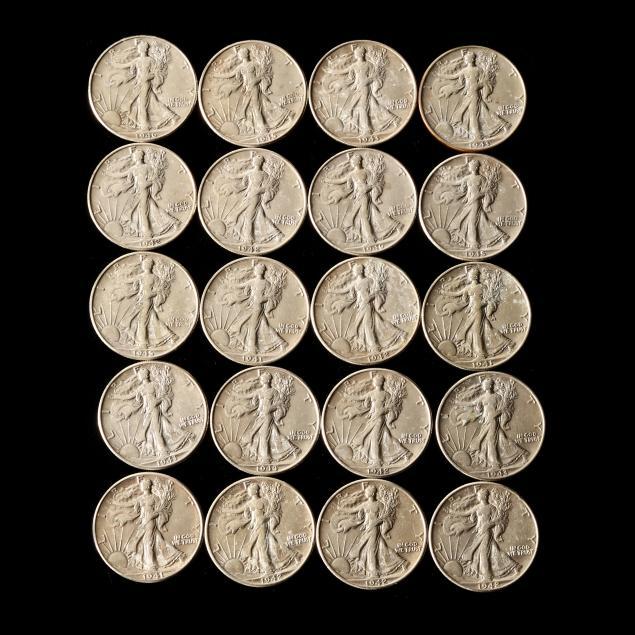 roll-of-twenty-20-circulated-walking-liberty-half-dollars