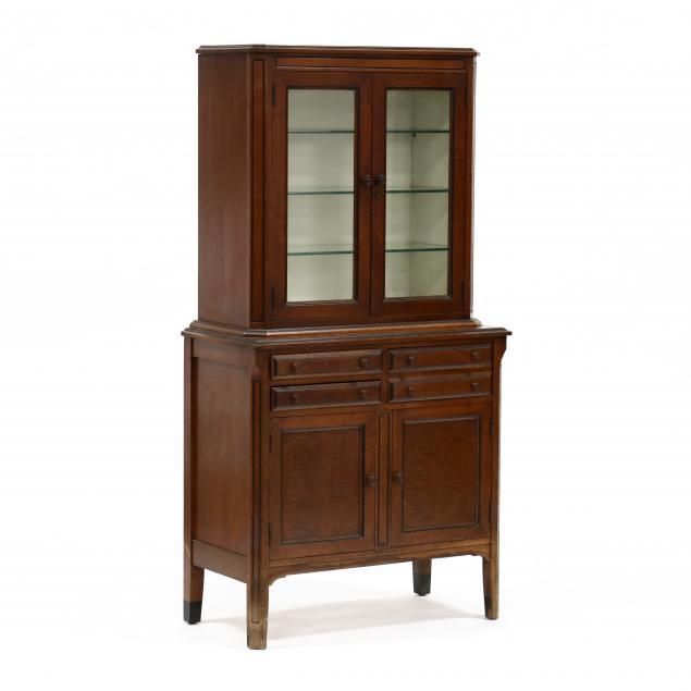vintage-diminutive-walnut-display-cabinet