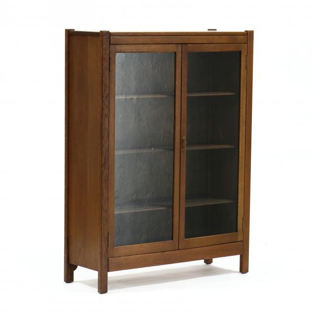 vintage-oak-bookcase