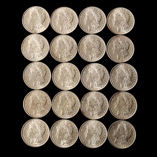 twenty-20-uncirculated-morgan-silver-dollars