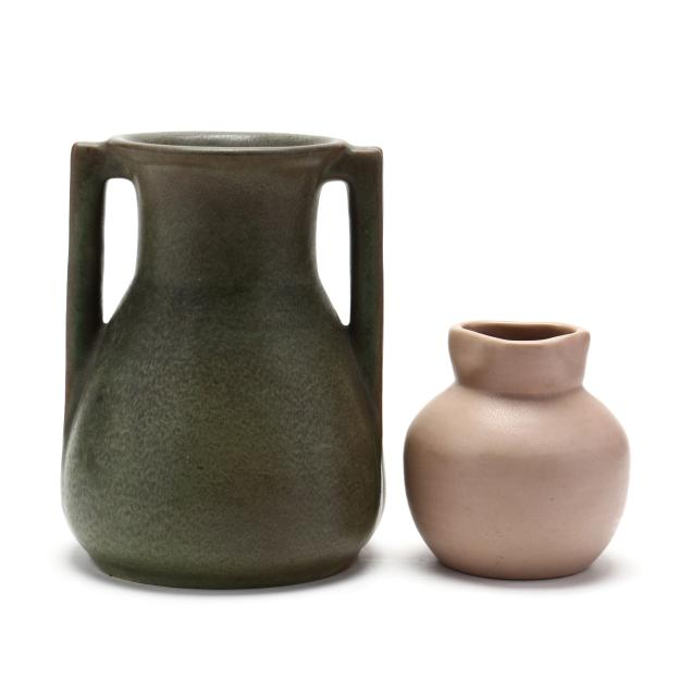 two-teco-art-pottery-vases