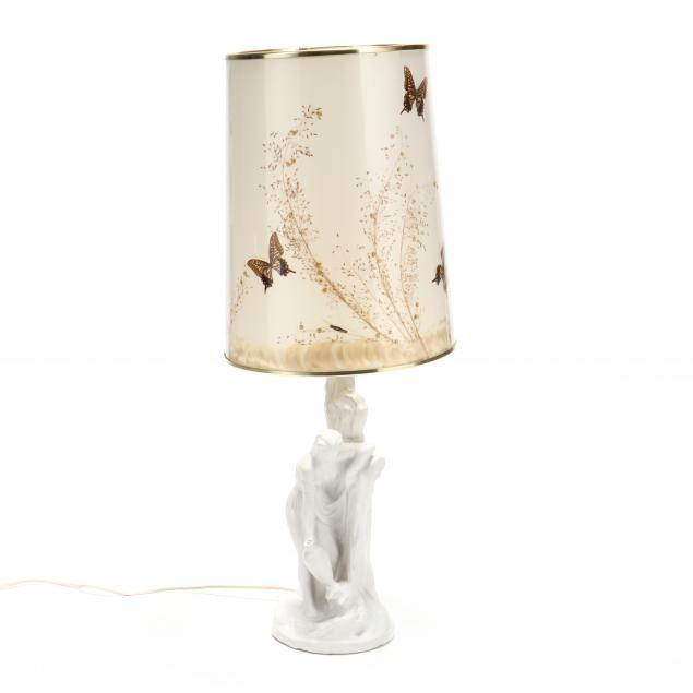 van-briggle-figural-pottery-lamp
