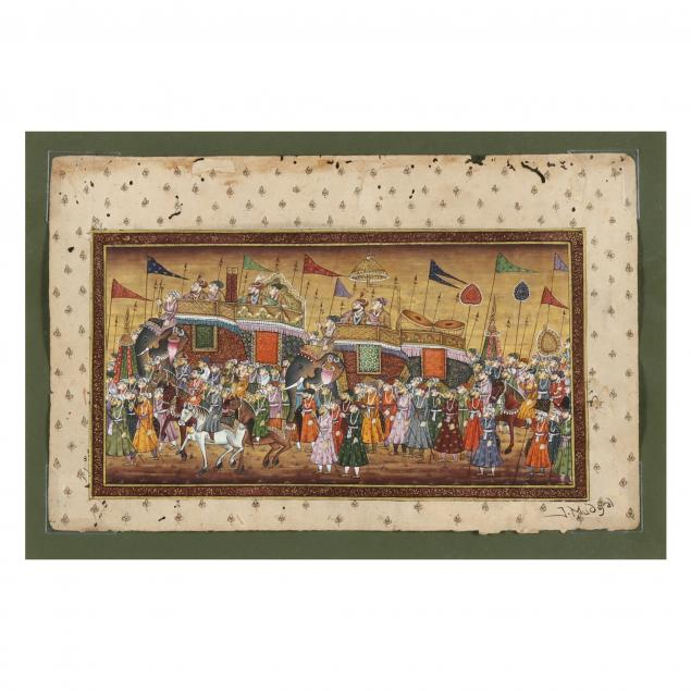an-indian-miniature-painting-of-a-royal-procession