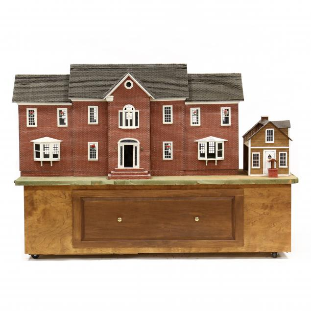 large-custom-dollhouse-with-furnishings-and-outbuilding