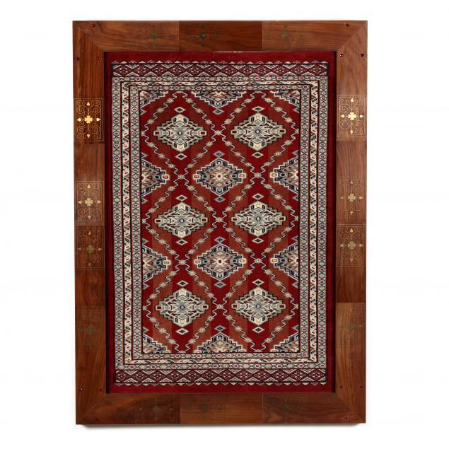 framed-oriental-rug
