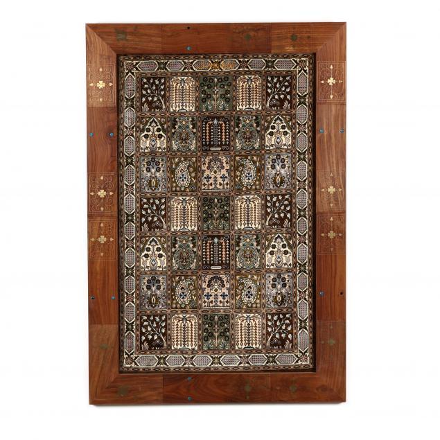 framed-oriental-garden-design-rug