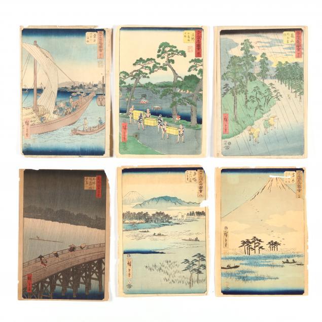 utagawa-hiroshige-japanese-1797-1858-six-woodblock-prints