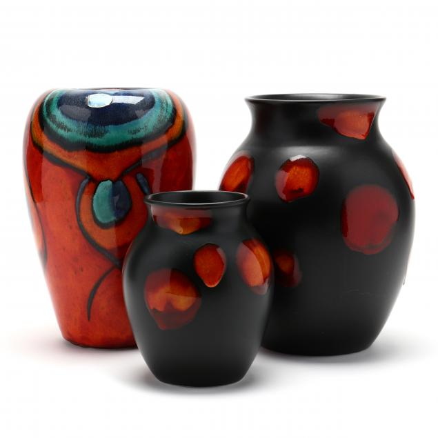 poole-three-pottery-vases