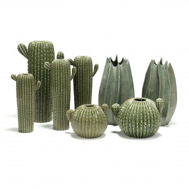 eight-italian-pottery-cacti