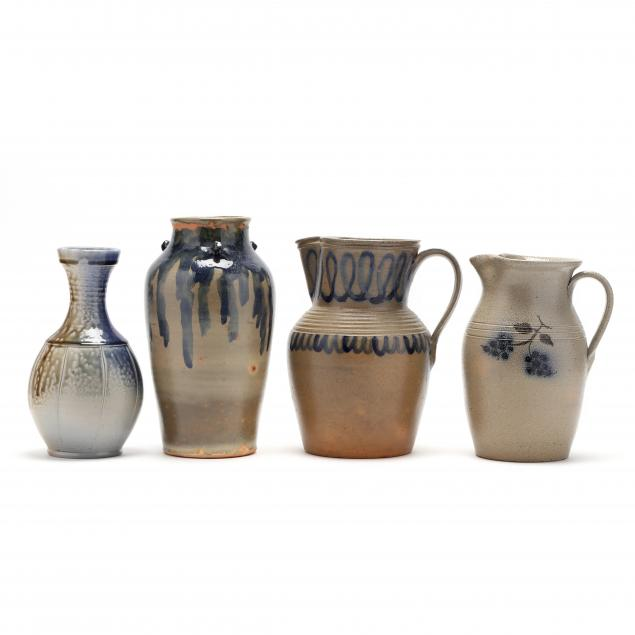 four-pieces-of-seagrove-pottery