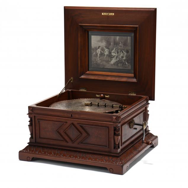 large-polyphon-disc-music-box