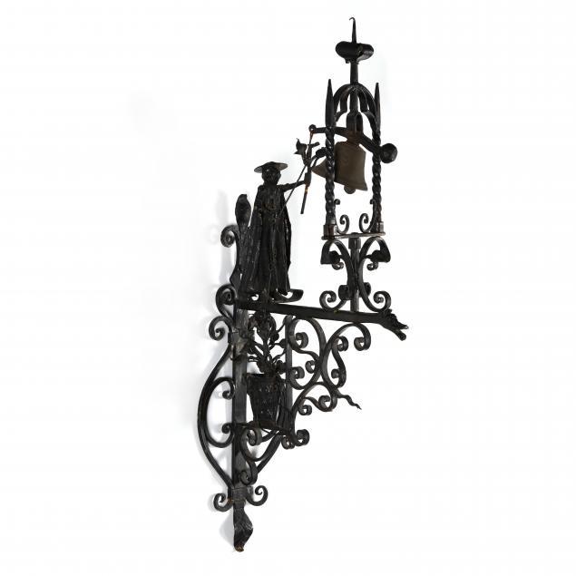 vintage-italian-wrought-iron-figural-door-bell