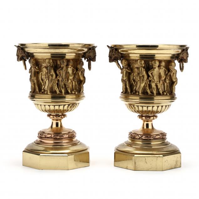 a-pair-of-antique-gilt-bronze-urns
