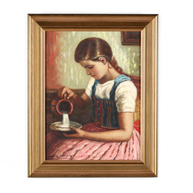 rozsa-karoly-hungarian-20th-century-girl-with-pitcher