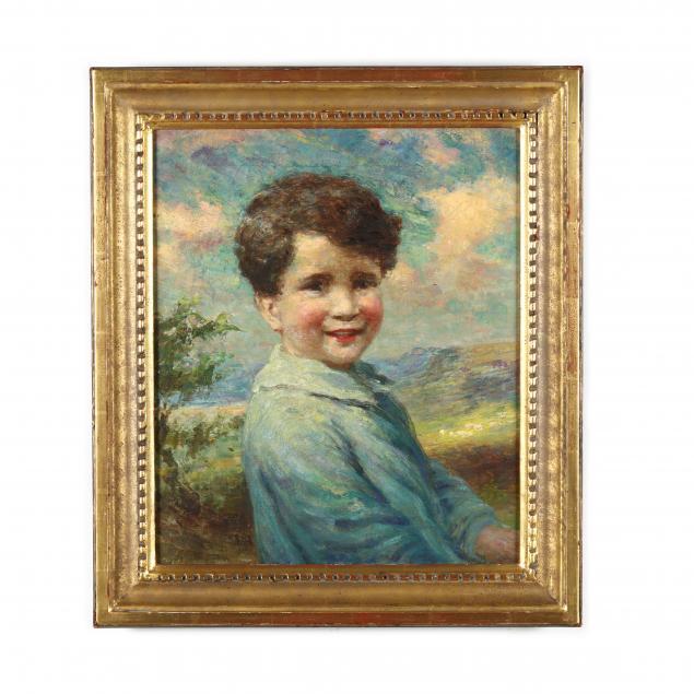 william-j-medcalf-english-1879-1930-portrait-of-a-young-boy
