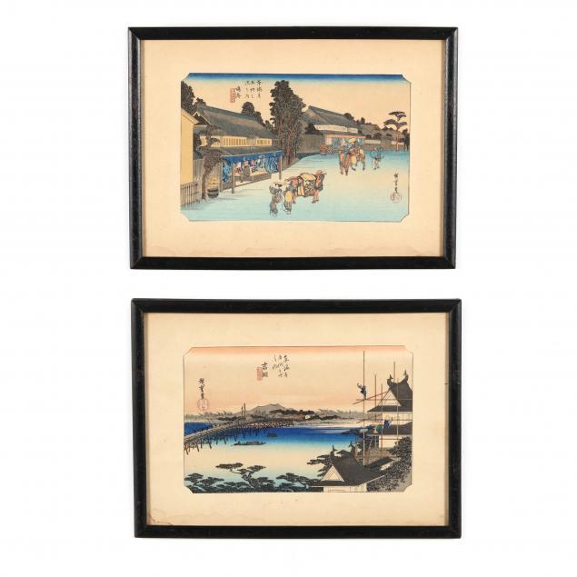 utagawa-hiroshige-japanese-1797-1858-two-woodblock-prints