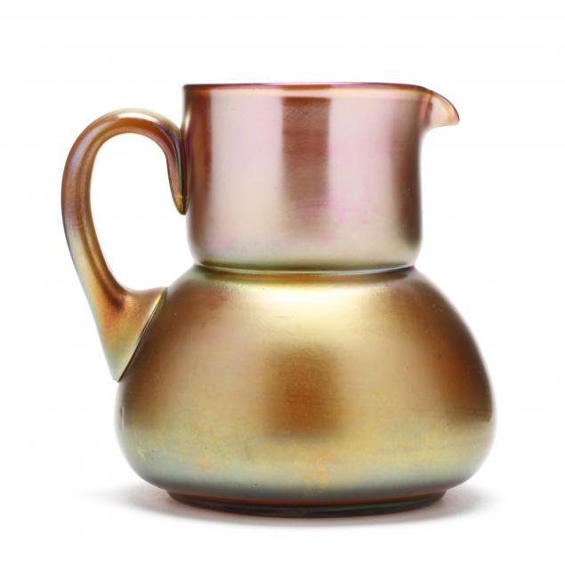steuben-aurene-glass-pitcher