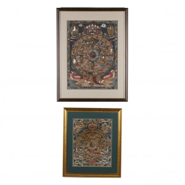 two-nepalese-thangka-paintings-of-the-wheel-of-life