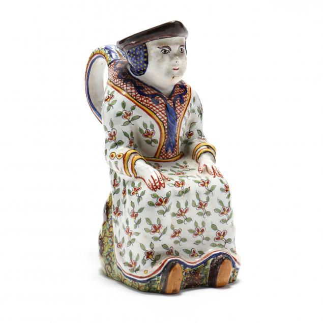 french-faience-figural-jug