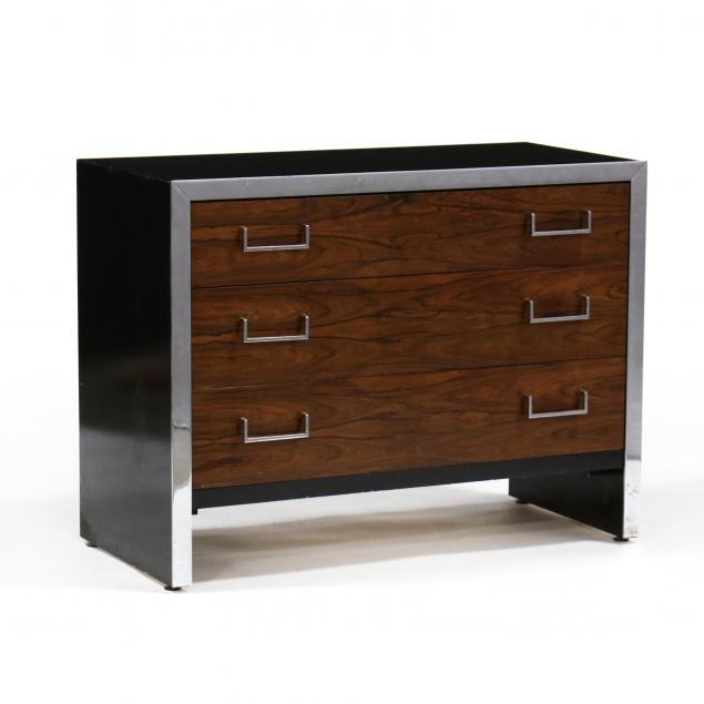 att-milo-baughman-american-1923-2003-chrome-and-rosewood-bachelor-s-chest